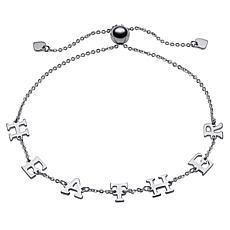 Sterling Silver Adjustable Name Station Bracelet