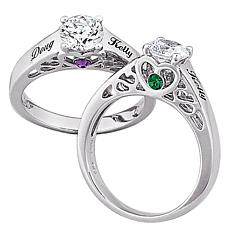 Sterling Silver Birthstone CZ Promise Ring