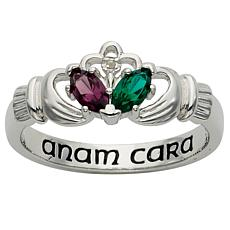Sterling Silver Couple's Marquise Birthstone Ring