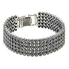 Sterling Silver Marcasite 5-Row Line Bracelet
