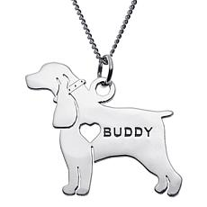Sterling Silver Pet Pendant with Chain
