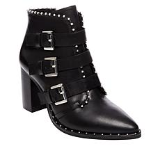 Steve Madden Humble Triple-Strap Leather Bootie