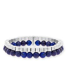 Steve Madden Lapis Bead Connected Bracelet Set