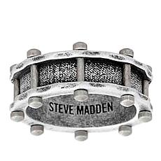 Steve Madden Men's Rivet Design Stainless Steel Ring