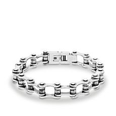 "Steve Madden Men's Stainless Steel Bike-Link Chain 8"" Bracelet"