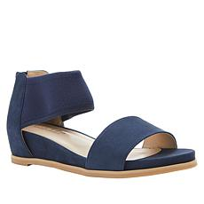 Steven Natural Comfort Evie Suede and Fabric Sandal
