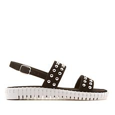 Steven Natural Comfort Shams Suede Sandal with Studs