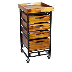 StoreSmith 4 Drawer Organizer with Tray Top