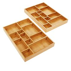 StoreSmith Bamboo Drawer Organizers 2-pk