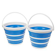 StoreSmith Set of 2 Collapsible Buckets