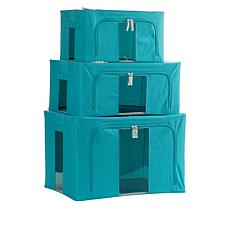 StoreSmith Set of 3 Collapsible Storage Bins