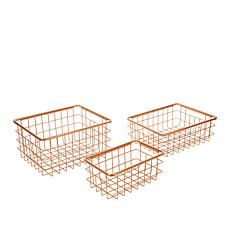 StoreSmith Set of 3 Stackable Baskets