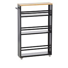 StoreSmith Three Tier Shelf with Wood Top