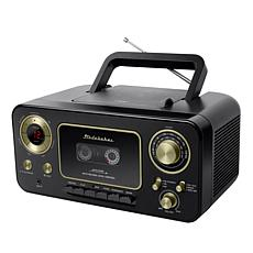 Studebaker Portable CD & Cassette Player with AM/FM Radio & Blank Tape
