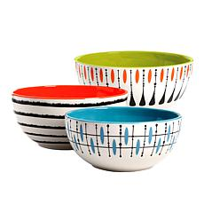 Studio California Luminescent 3-Piece Mixing Bowl Set in Mixed Colors