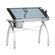 Studio Designs Futura Drafting Table Adjustable Top and Supply Storage