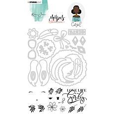 Studio Light Karin Joan Clear Stamp & Die Cut Carol Missees No. 05