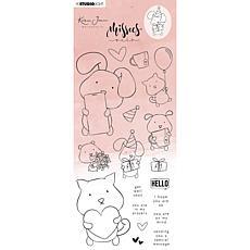 "Studio Light Karin Joan Clear Stamp Missees ""Pets"" Collection Nr. 12"