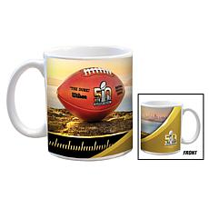 Super Bowl 50 Set of 2 Ceramic White Mugs - 11 oz.