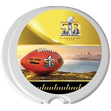 Super Bowl 50 Set of 4 Ceramic Travel Coasters - 4""
