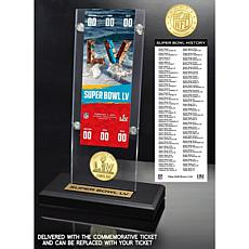 Super Bowl 55 Ticket and Bronze Coin Acrylic Desk Top