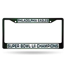 Super Bowl LII Champions Chrome-Plated License Plate Frame - Eagles