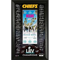 Super Bowl LIV Signature Ticket in Display Frame