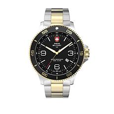 "Swiss Military by Charmex Men's ""Infantry"" 2-tone Bracelet Watch"