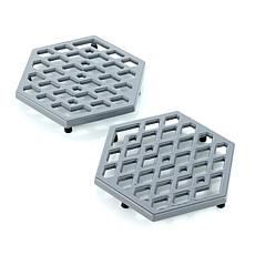 Symon Home Set of 2 Cast Iron Trivets