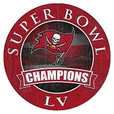 "Tampa Bay Buccaneers Super Bowl Champs 12"" Round Sign"