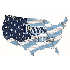 Tampa Bay Rays USA Shape Flag Cutout