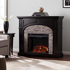 Tanaya Electric Fireplace - w/Gray Stacked Faux Stone