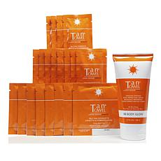 TanTowel® Dark 20-piece Kit with Body Glow Self-Tanning Cream