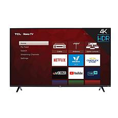 "TCL 4-Series 50"" 4K Ultra HD Roku Smart TV w/HDMI Cable- 2-yr warranty"