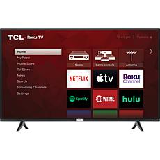 """TCL S435 43"""" 4K LED Roku TV Bundle with 6' HDMI Cable and Voucher"""