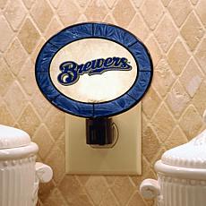 Team Glass Nightlight - Milwaukee Brewers
