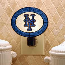 Team Glass Nightlight - New York Mets