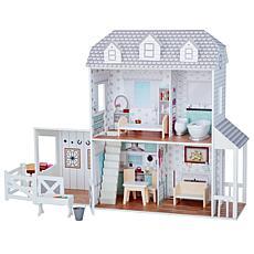 "Teamson Kids Olivia's World Dreamland Farm House 12"" Doll House, Gray"