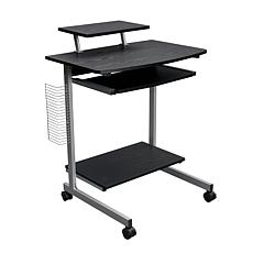 Techni Mobili Compact Computer Cart With Storage - Espresso