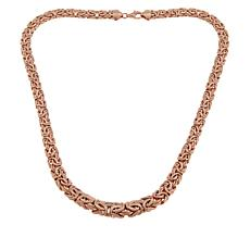 "Technibond® 18"" Rose Graduated Byzantine Necklace"