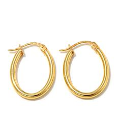 "Technibond® 3/8"" Small Oval Hoop Earrings"