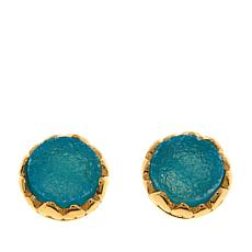 Technibond® Blue Drusy Stud Earrings