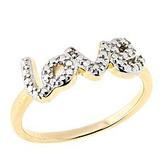 "Technibond® Diamond-Accented ""Love"" Ring"