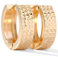Technibond® Diamond-Cut Huggie Hoop Earrings