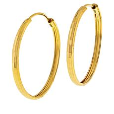 Technibond® Hammered Endless Hoop Earrings