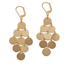 Technibond® High-Polish Disc Drop Earrings