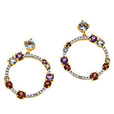 Technibond® Multi-Gem Circle Drop Earrings