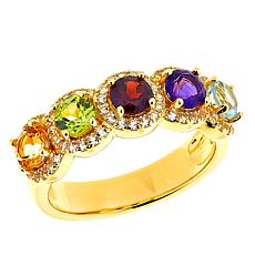 Technibond® Multi-Gemstone Band Ring