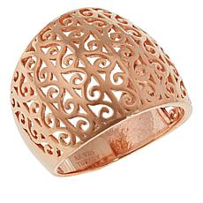 Technibond® Rose Filigree Swirl Dome Ring