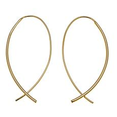 Technibond® Shepherd's Hook Earrings - Yellow
